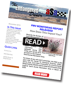 Download ASA December 2015 Endangered Duner newsletter