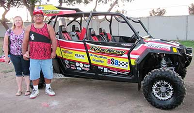 James Arviso is the winner of the RideNow Special Edition Polaris RZR.