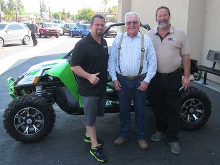 Greg Diehl is the winner of the 2nd prize Arctic Cat in the 2014 ASA raffle