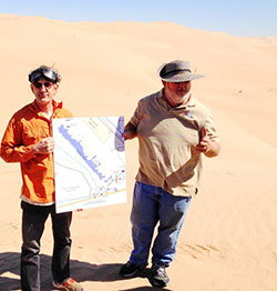 Jim Bramham (right) leads a tour of the Imperial Sand Dunes/Glamis with the US Fish and Wildlife Service.