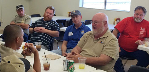 Jim Bramham (tan shirt) leading a working group with the Bureau of Land Management on dune management issues.