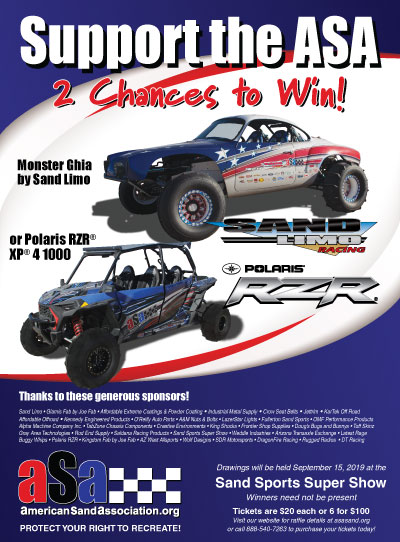 Get tickets for a chance to win a Monster Ghia or Polaris RZR XP 4 1000